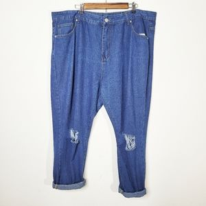 Boohoo Mom Jeans Relaxed Fit Size 20 Busted Knee
